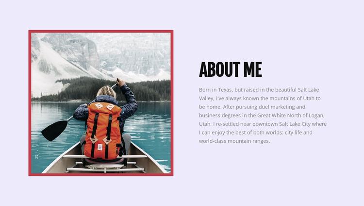About my blog Website Mockup