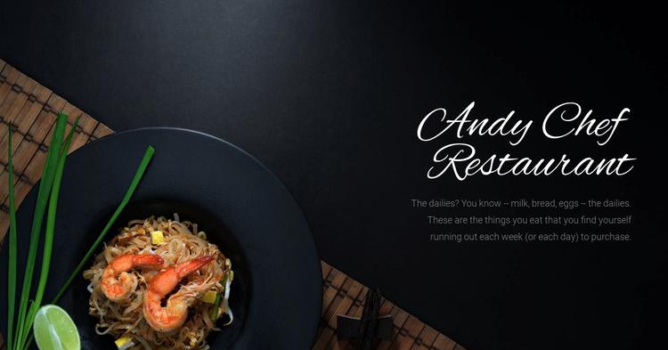 Chef restaurant food Landing Page