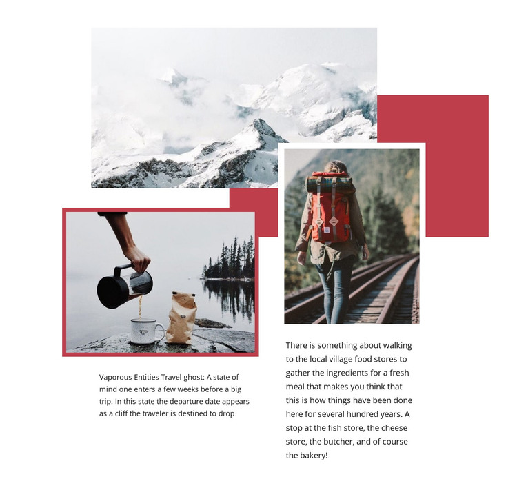 We travel for romance HTML Template