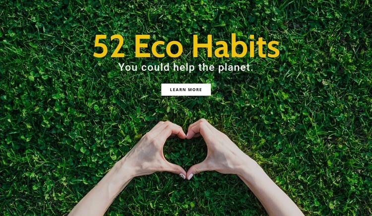 Ecofriendly habits HTML Template