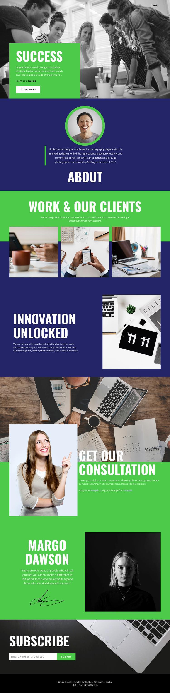 Success of business team Web Page Design