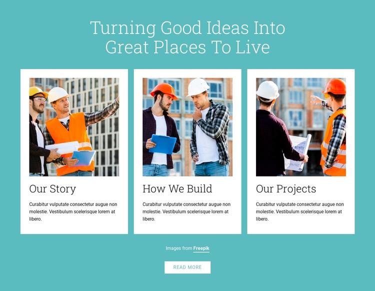 Owner-builders construct buildings CSS Template