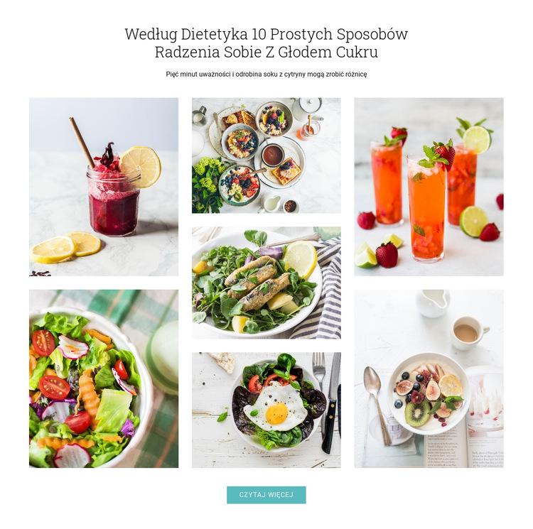Wskazówki, jak powstrzymać apetyt na cukier Szablon witryny sieci Web