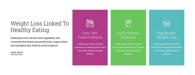 Healthy nutrition plan Web Page Design