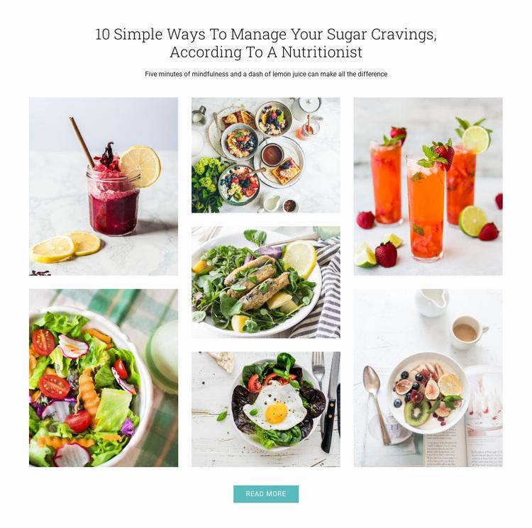 Tips to stop sugar cravings Website Design