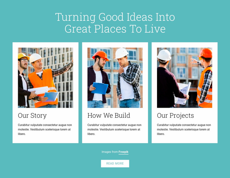 Owner-builders construct buildings Website Template