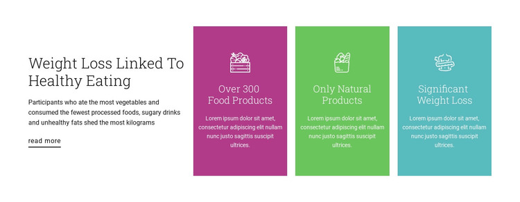Healthy nutrition plan Woocommerce Theme