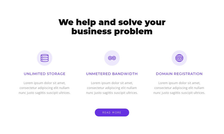 We solve your busiess problem HTML Template