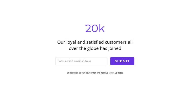 20k satisfied customers Joomla Template
