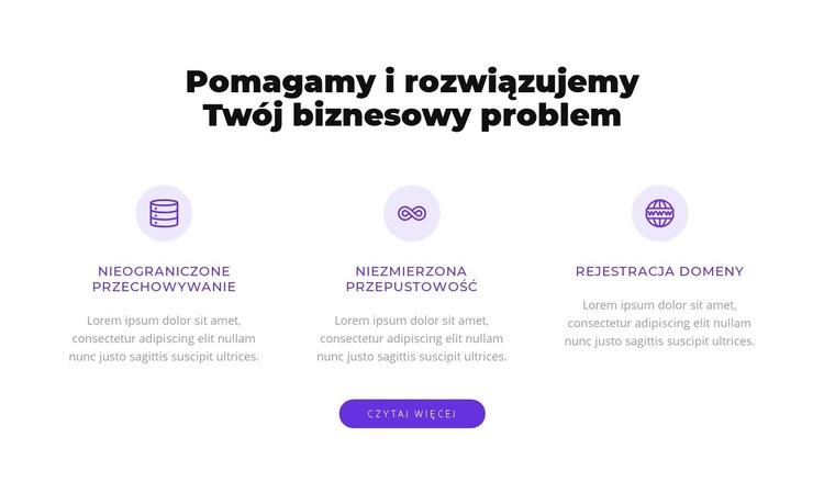 Rozwiązujemy Twój biznesowy problem Szablon witryny sieci Web