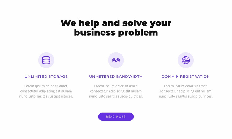 We solve your busiess problem Website Template