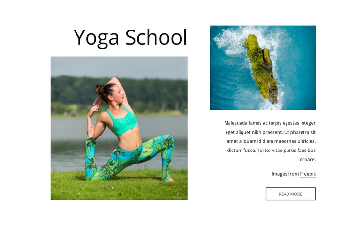 Our yoga school HTML Template