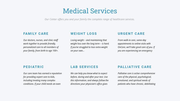 Palliative care HTML5 Template