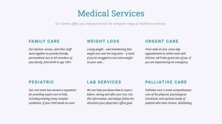 Palliative care Joomla Template