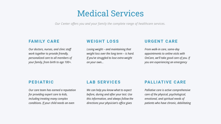 Palliative care One Page Template