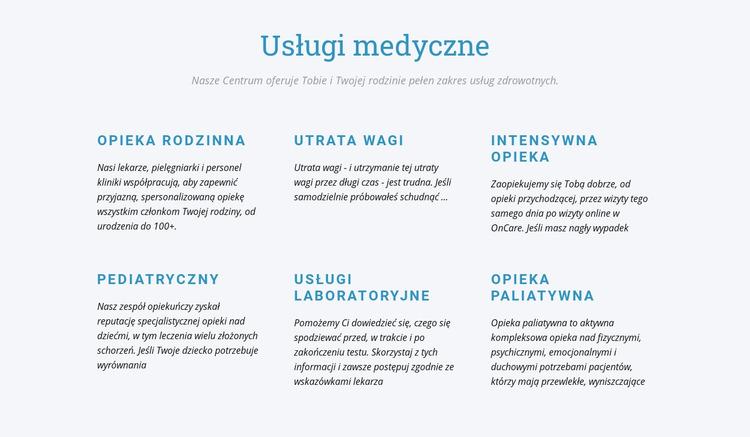 Opieka paliatywna Szablon Joomla