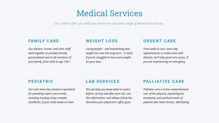 Palliative care Website Builder