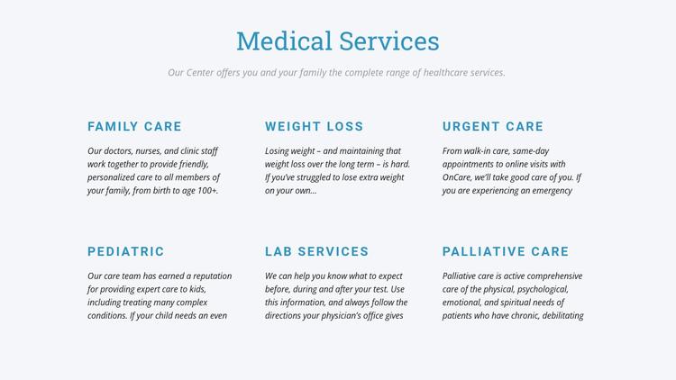 Palliative care Website Builder Software