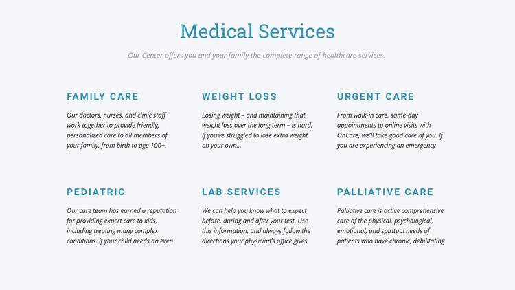 Palliative care WordPress Website Builder