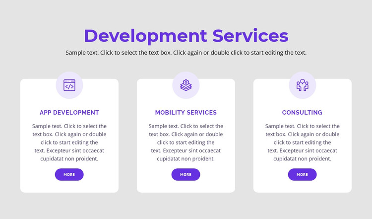 Our development services HTML Template