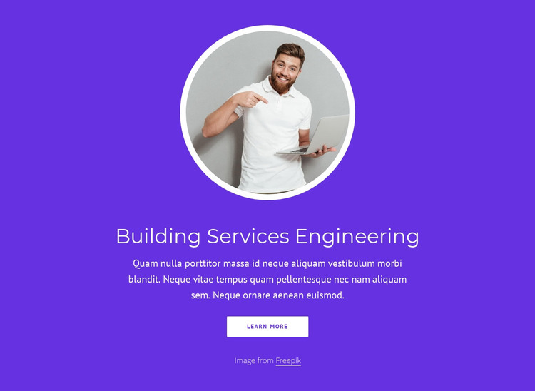 Building services engineering HTML Template