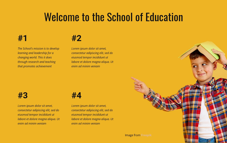 Experiential learning Website Mockup
