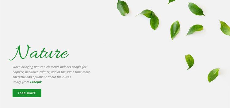 Fresh nature design  HTML Template