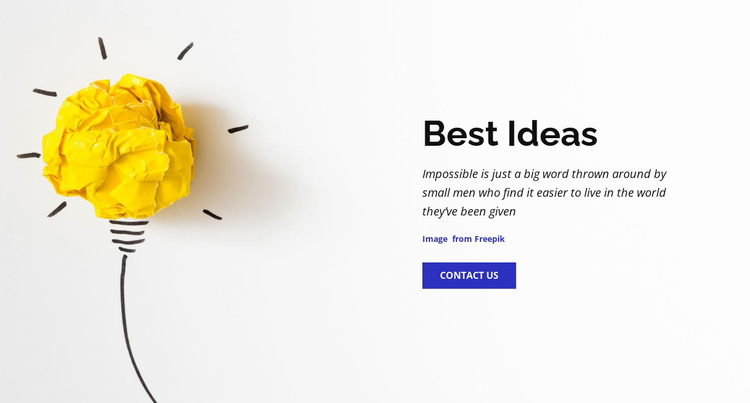 Best business ideas  Website Builder