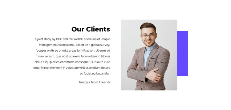 Our amazing clients HTML Template
