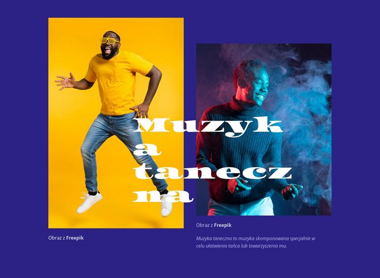 Muzyka taneczna Szablon witryny sieci Web