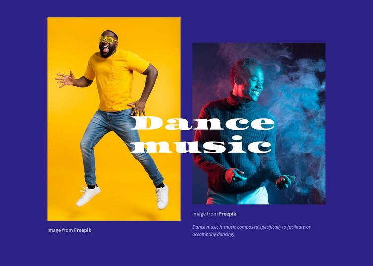 Dance music entertainment  Website Template