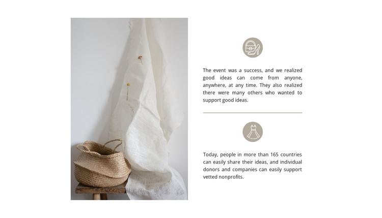 Handmade bags HTML Template