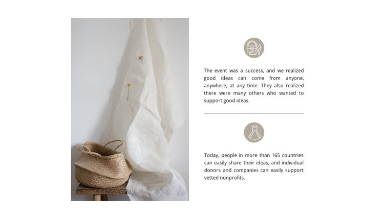 Handmade bags Web Page Designer