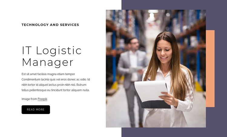 IT Logistic manager Html Code Example