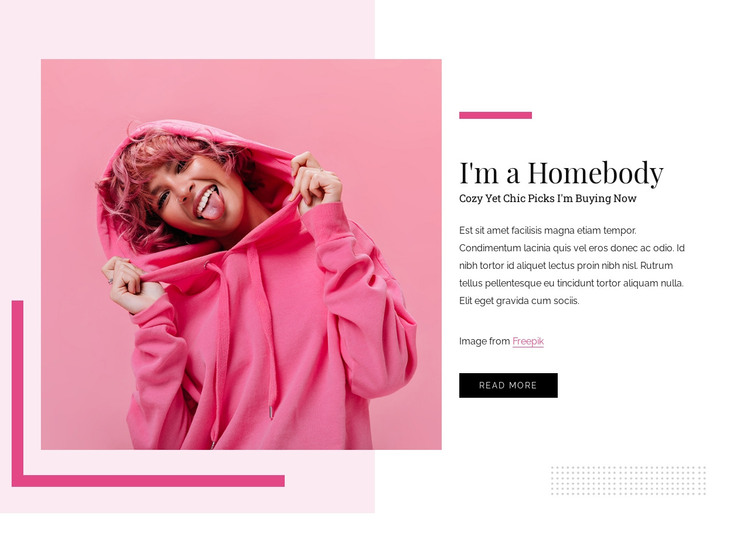 Ultra comfy HTML Template