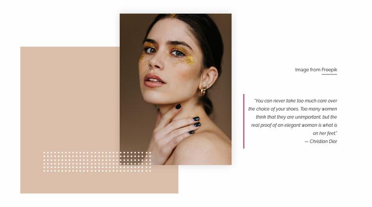 Glitter makeup Website Mockup