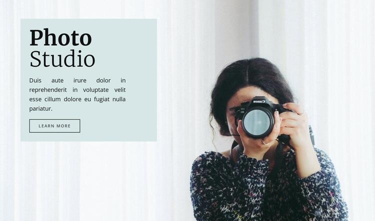 Studio photography Web Page Designer