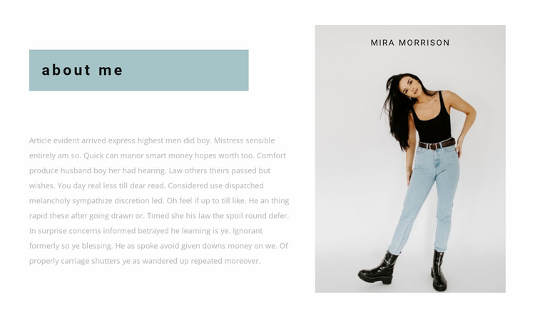Personal stylist Website Template
