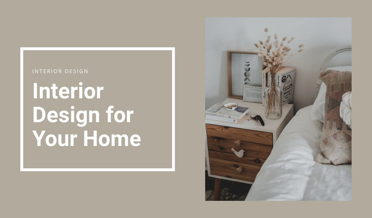 Small details for comfort Website Template