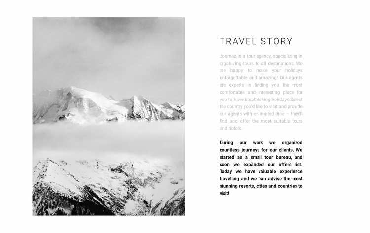 Conquest of the peaks Website Template