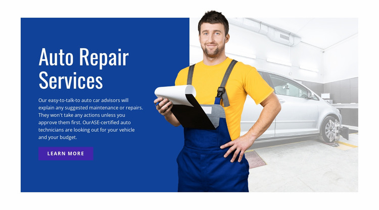 Electrical repair and services Website Mockup