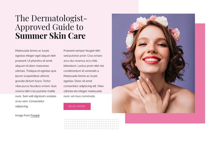 Summer skin care Html Code Example