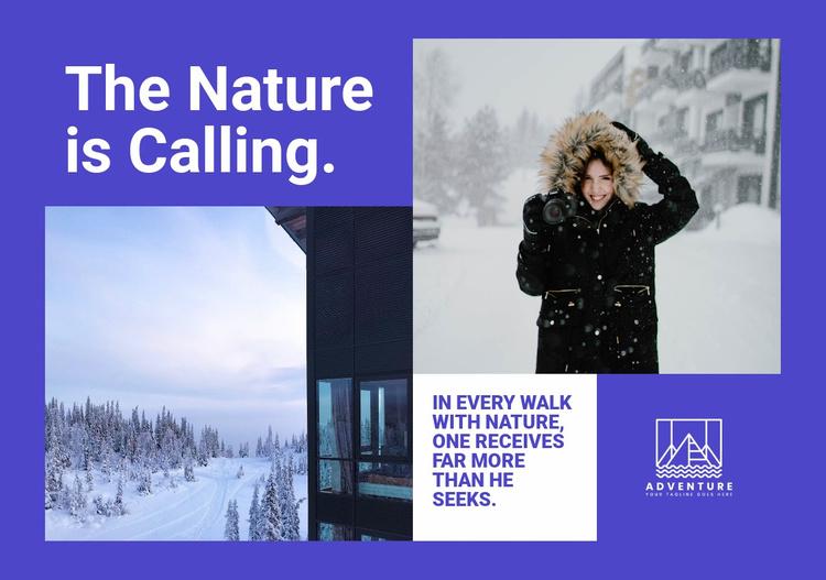 Winter nature walks Website Template