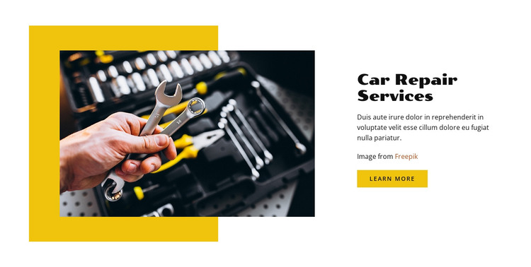 Auto mechanic for repair  HTML Template