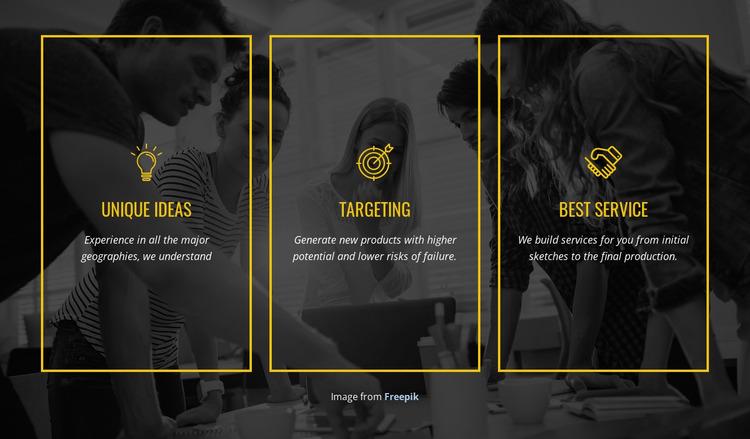 We create distinctive brands Html Website Builder