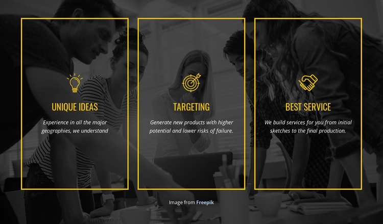We create distinctive brands One Page Template