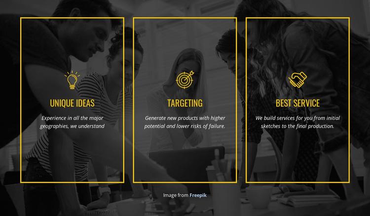 We create distinctive brands Template