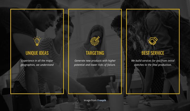 We create distinctive brands Website Template