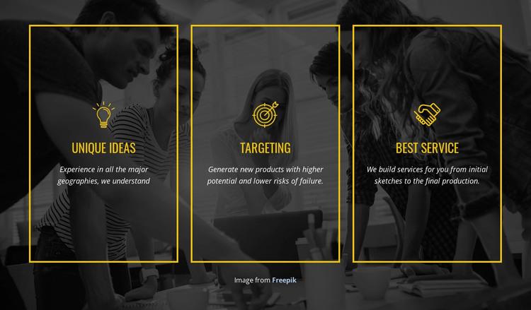 We create distinctive brands WordPress Theme