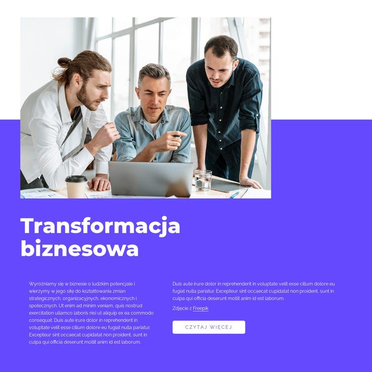 Nasza praca ma charakter transformacyjny Szablon witryny sieci Web